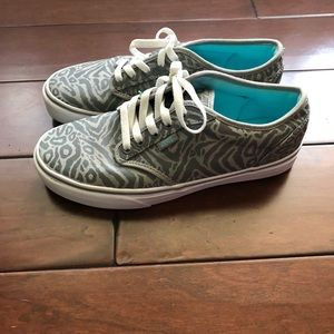 Cheetah print grey vans